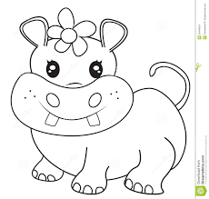 Small Picture Baby Hippo Coloring Page Coloring Coloring Pages