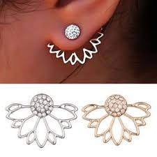 Fashion Exquisite Women Hollow Out Lotus Shaped Earrings ... - Vova
