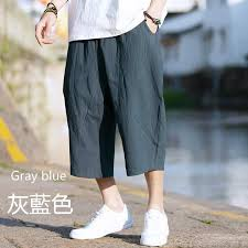 YYG <b>Mens</b> Cotton Linen Drawstring Casual <b>Solid Color</b> Loose Fit ...