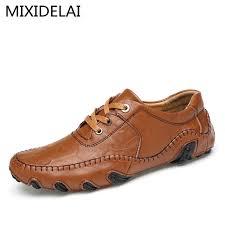 <b>MIXIDELAI</b> Brand 2021 New Luxury <b>Genuine Leather</b> Flats Italian ...