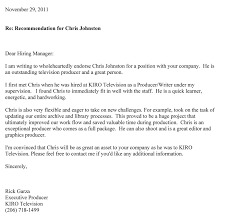 chris m johnston s fan club recommendation letters actual letter