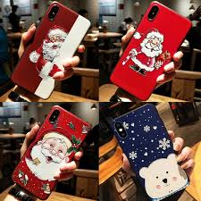 3D <b>Emboss</b> Relief Xmas Christmas Cartoon Santa Claus Case Gift ...