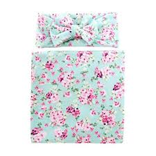 Housesczar <b>2pcs</b>/<b>Set</b> Cute <b>Newborn Baby</b> Bowknot Flower Print ...