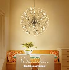 Modern LED <b>Crystal</b> Pendant Lamp Dandelion <b>Chandelier</b> Light ...