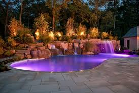 captivating pool lighting ideas to be applied amazing pool lighting ideas and nice stairs also beautiful lighting pool