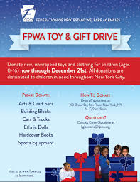 holiday toy and gift drive fpwa toy drive flyer looking to make a donation