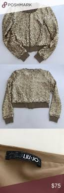CHIC⚡️ <b>Liu Jo Gold</b> Sequined Zip Jacket | Clothes design, Zip ...