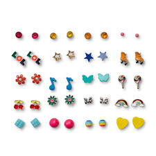 Piper <b>Kids</b> Girls' <b>20</b>-<b>Pairs</b> Assorted <b>Stud</b> Earrings