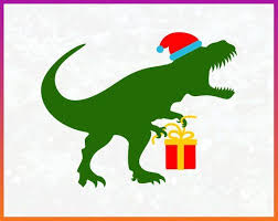 <b>Dinosaur</b> Santa Hat svg Cut File <b>Iron on Transfer</b> pdf jpg png dxf eps ...