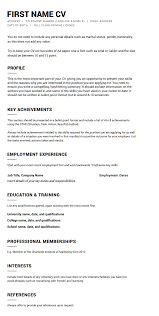 template easy cv template create your perfect
