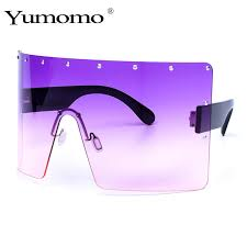 <b>YUMOMO Women</b> Fashion Square Oversized <b>Sunglasses</b> UV400 ...