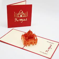 Производители поставляют Taj Mahal <b>3D открытка ручной</b> ...