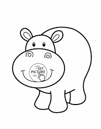 Small Picture Hippos Page Free Printable George Hippo Coloring Pages And Martha
