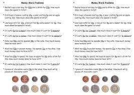 Money maths worksheets ks2