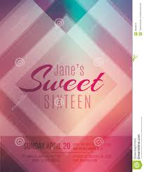 sweet sixteen party invitation flyer template stock vector image sweet sixteen party invitation flyer template