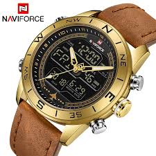 NAVIFORCE New <b>Men Watches Led</b> Casual Sport <b>Military Watch</b> ...