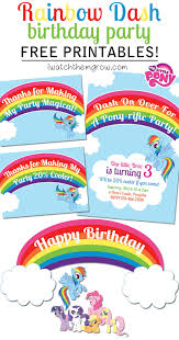 printable invitations my little pony party printables for a my little pony rainbow dash birthday party invitation thank you