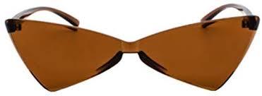 Fulision <b>One Piece</b> Sunglasses Small Cat eye Glasses <b>Transparent</b> ...