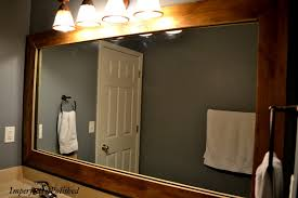update bathroom mirror: the  master bath mirror after side view
