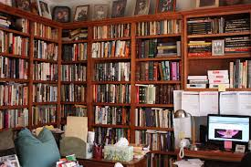 marvelous building a home library with brown wooden wall bookshelf mounted on the wall and brown building home office witching