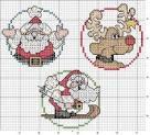 Простая схема вышивки крестом новый год