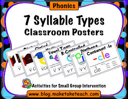 syllable types classroom posters make take teach 7syllables cover2
