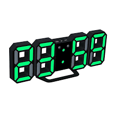 New Fashion <b>3D LED Digital</b> Clock Display Alarm Snooze Alarm ...