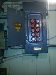 electrical wiring for manufacturing equipment installation old electrical meter needing to be replaced and upgraded