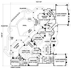 Mediterranean Home Plans and Spanish House Floor Plans at    ORDER this house plan  Click on Picture for Complete Info
