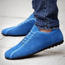 <b>Men Flat Shoes</b> Suede Genuine <b>Leather</b> Low Top Lace-Up Rubber ...