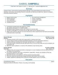 impactful professional food  amp  restaurant resume examples    general manager
