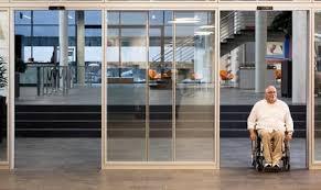 Resultado de imagen de puertas automaticas de cristal geze