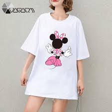 <b>2019 Summer Clothes</b> Women Minnie <b>Mickey</b> Mouse Tops Short ...