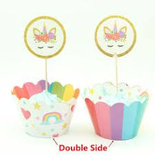 Details about <b>24pcs</b> Princess Cupcake <b>Wrappers</b> Cupcake Toppers ...