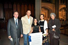 xavier high school respect for life essay winner mr michael livigni isaiah s family at st patrick s cathedral oct 6th