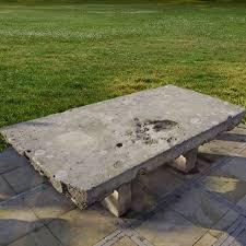 A <b>massive</b> Continental limestone garden <b>dining table</b>, 20th century ...