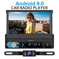 <b>1 Din</b> Flip-out <b>7</b> inch Android 9.0 <b>1 DIN Car</b> Stereo with backup ...