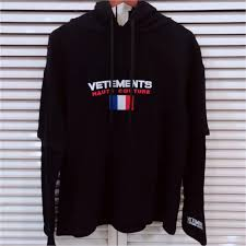 <b>Vetements Sweatshirts Women Men</b> 1:1 France Flag Embroider ...