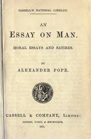an essay on man  edition  open library cover of an essay on man by alexander pope