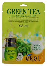 Ekel <b>Маска тканевая с экстрактом</b> зеленого чая, 25 гр. — купить в ...