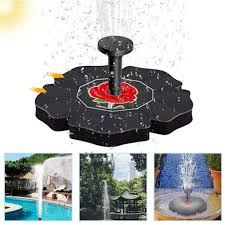 <b>1.5W</b> 16cm <b>Solar Fountain</b> Home Decorations <b>Fountain</b> Rose ...