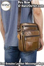 <b>Cow</b> Genuine <b>Leather</b> Messenger <b>Bags Men</b> Travel Business ...