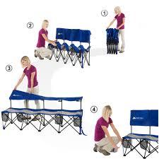 ozark trail convertible bench 225 lb capacity blue walmartcom cbe heated cooled chair