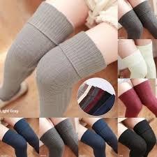 <b>Women</b> Long <b>Sexy</b> Chic Over The Knee Cotton <b>Socks</b> Thigh High ...