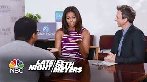 seth and first lady michelle obama give college freshmen advice seth and first lady michelle obama give college freshmen advice