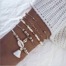 <b>HOT 5Pcs</b> Trendy Shell Beads Tassel Handmade <b>Bohemian</b> Charm ...