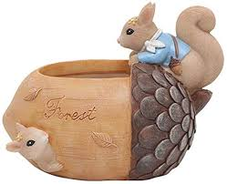 RENS Resin Fleshy Flower Pot,<b>Cute</b> Cartoon <b>Squirrel</b> Decoration ...