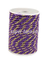Шнур декоративный <b>фиолетовый</b> купить в розницу в интернет ...