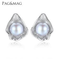 <b>PAG&MAG Charm Shell Design</b> Pearl Jewelry 925 Sterling Silver ...