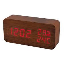 """<b>Часы</b> будильник <b>Perfeo PF</b>-<b>S736 WOOD</b>"""", температура ..."""